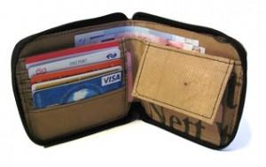 Ragbag fairtrade portomonnee van binnen