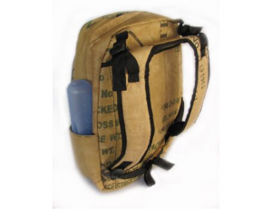 Ragbag backpack van theezakken achterkant