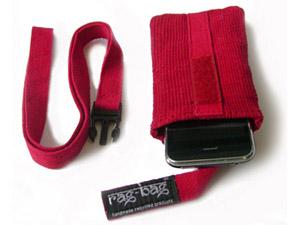 Fairtrade telefoonhoesje - rood